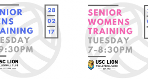 Senior training gets underway this week!